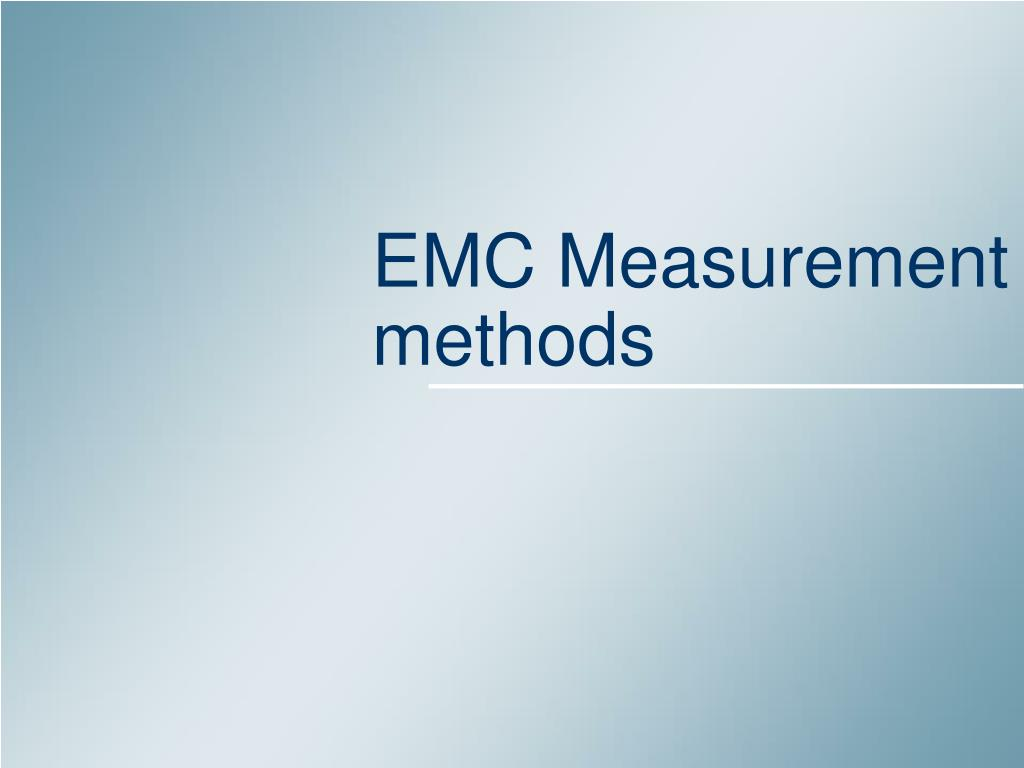 EMC Measurement methods