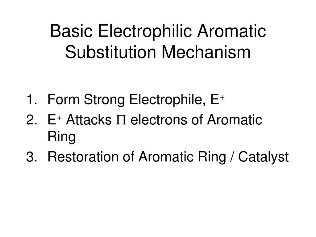 Basic Electrophilic Aromatic Substitution Mechanism
