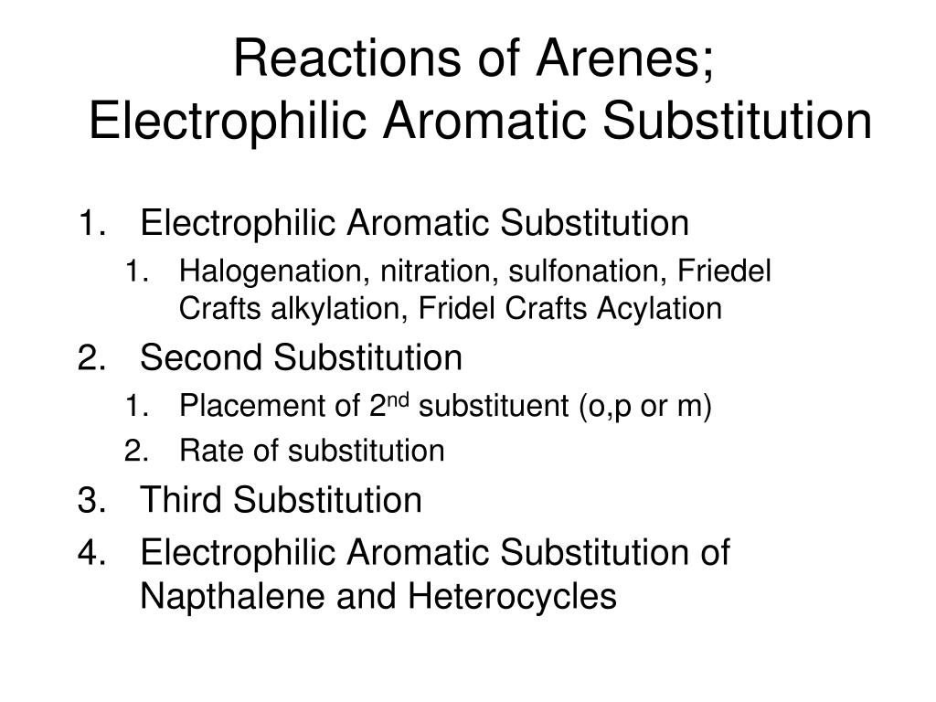 Reactions of Arenes;
