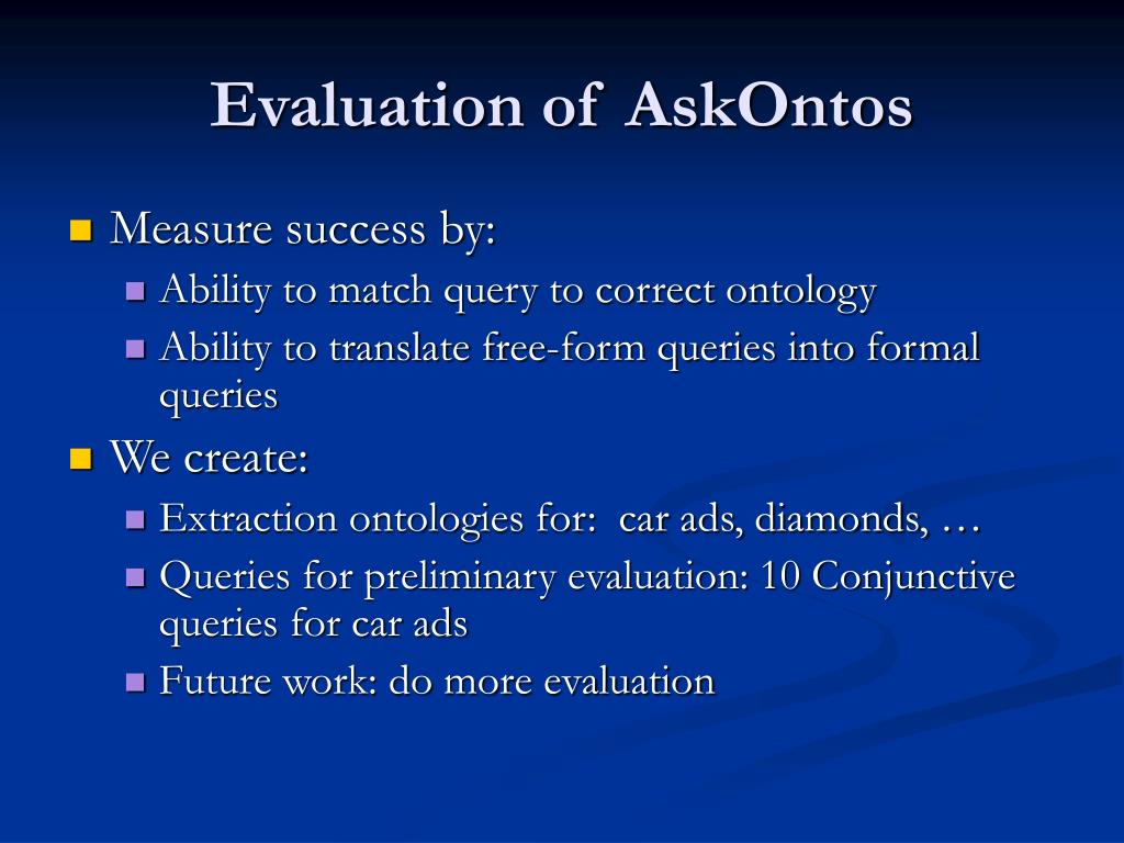 Evaluation of AskOntos