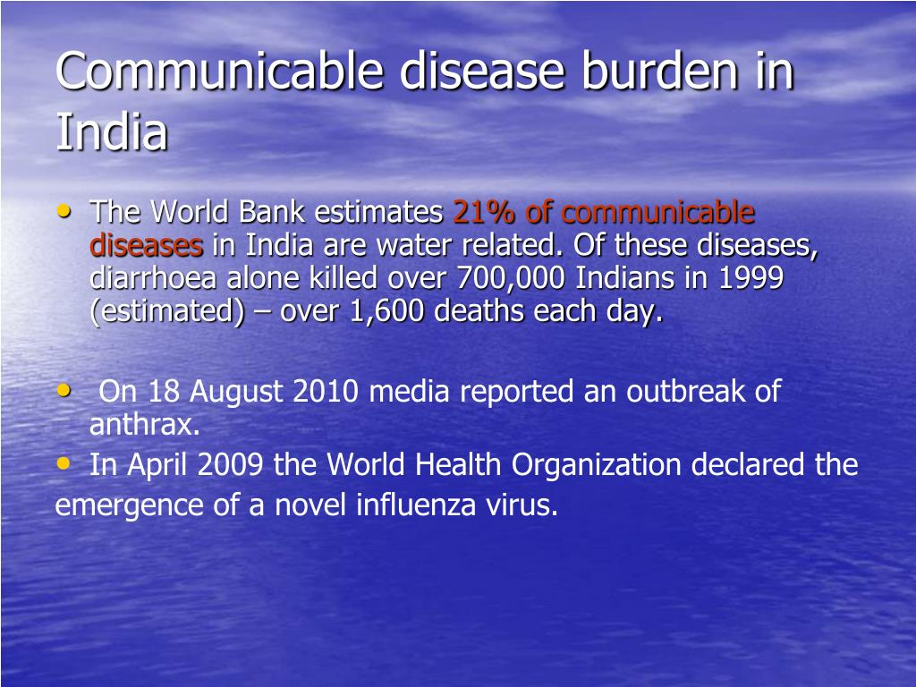 Communicable disease burden in India
