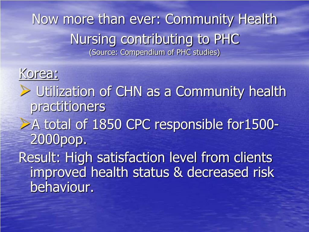 Now more than ever: Community Health Nursing contributing to PHC