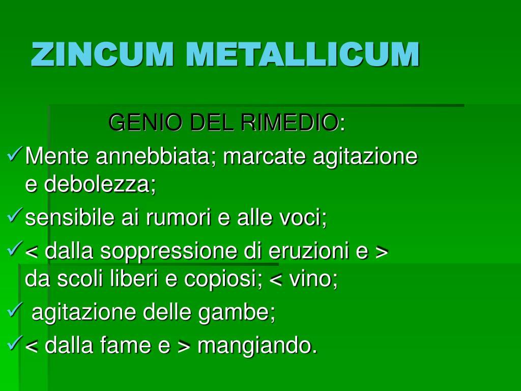 ZINCUM METALLICUM