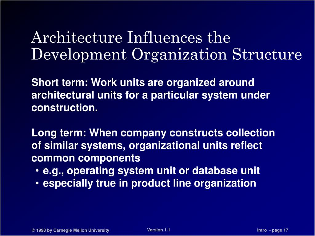 Architecture Influences the Development Organization Structure