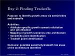 day 2 finding tradeoffs
