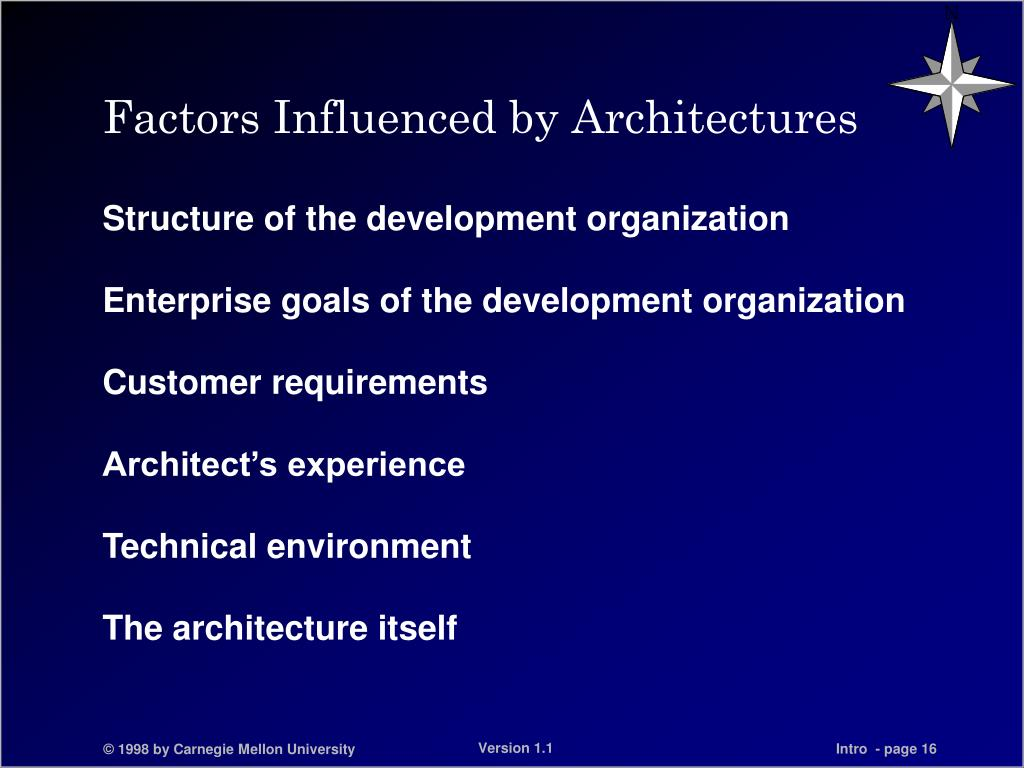 Factors Influenced by Architectures