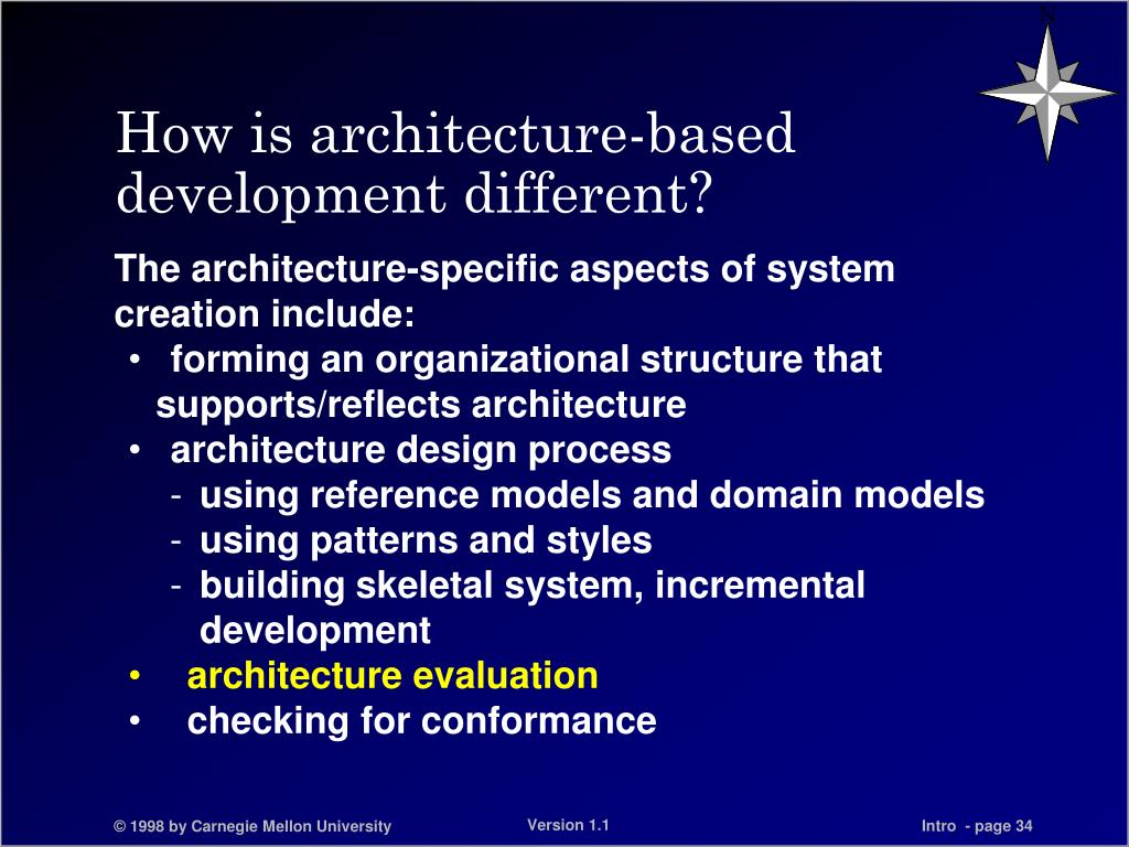 How is architecture-based development different?