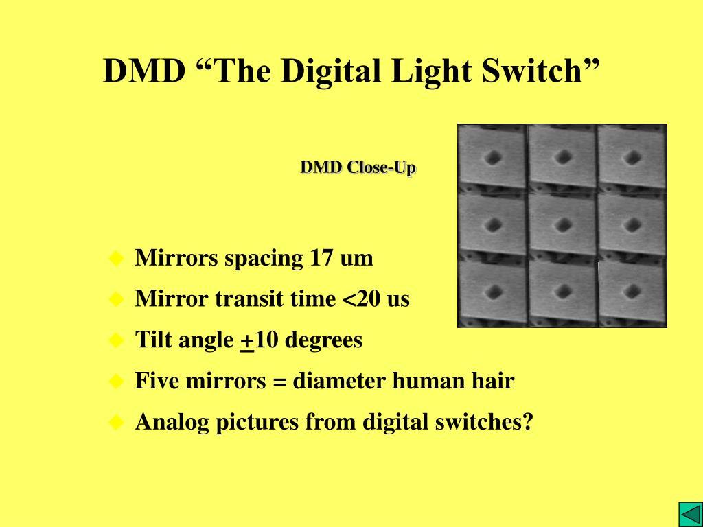"DMD ""The Digital Light Switch"""