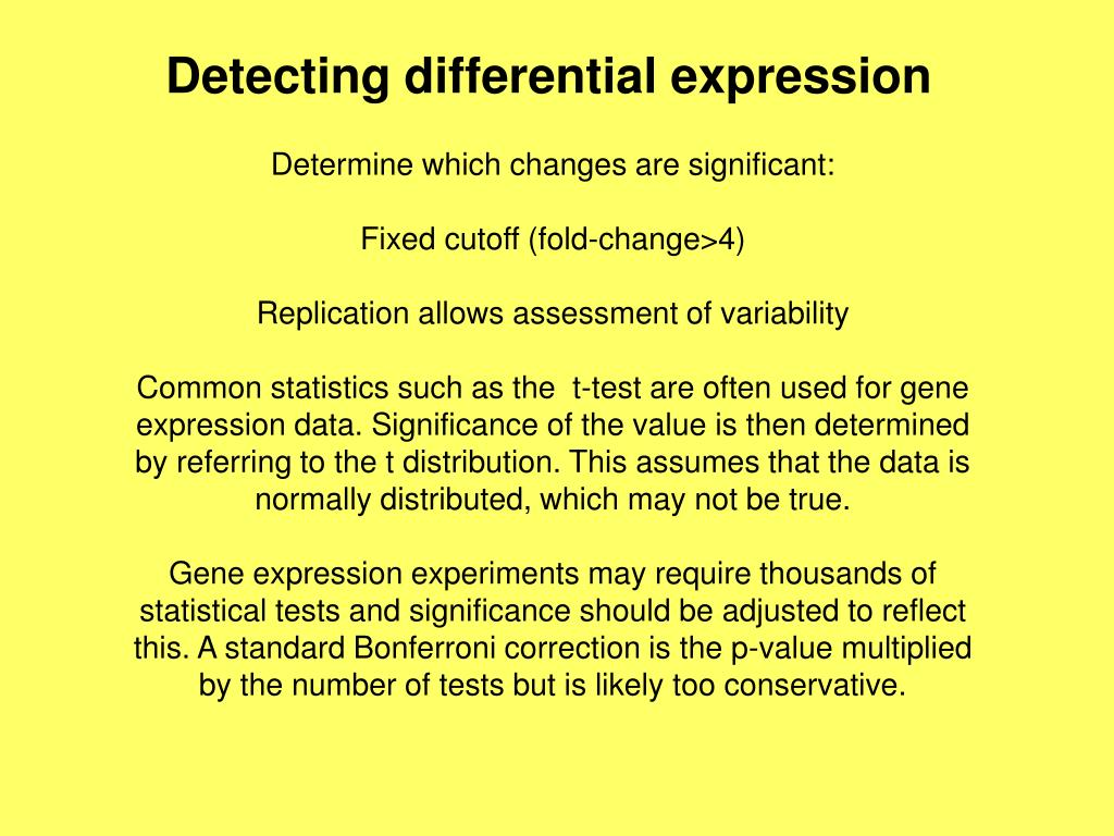 Detecting differential expression