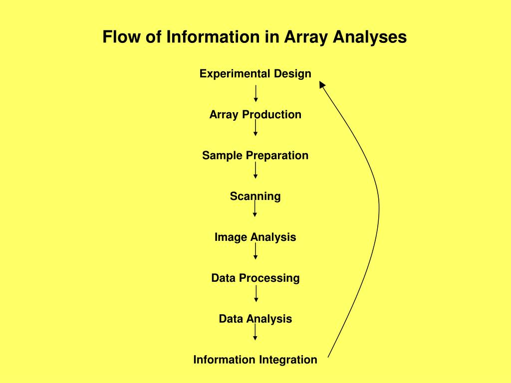 Flow of Information in Array Analyses