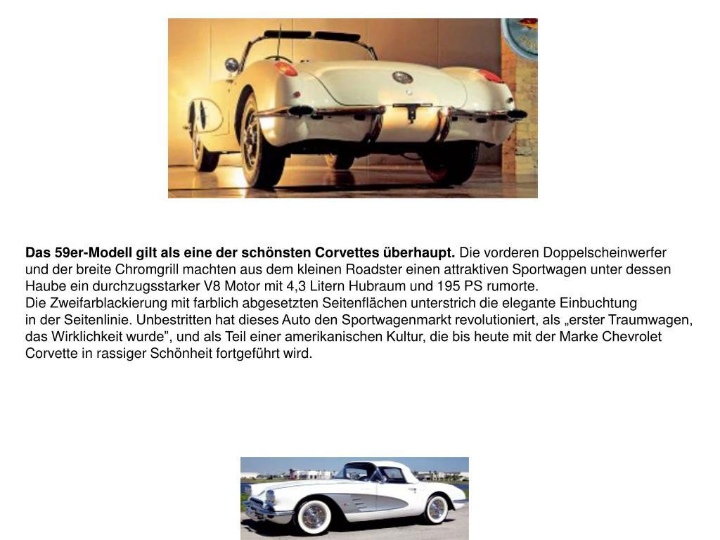 Das 59er-Modell gilt als eine der schönsten Corvettes überhaupt.