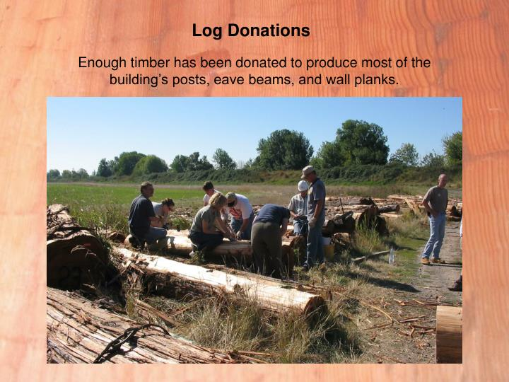 Log Donations