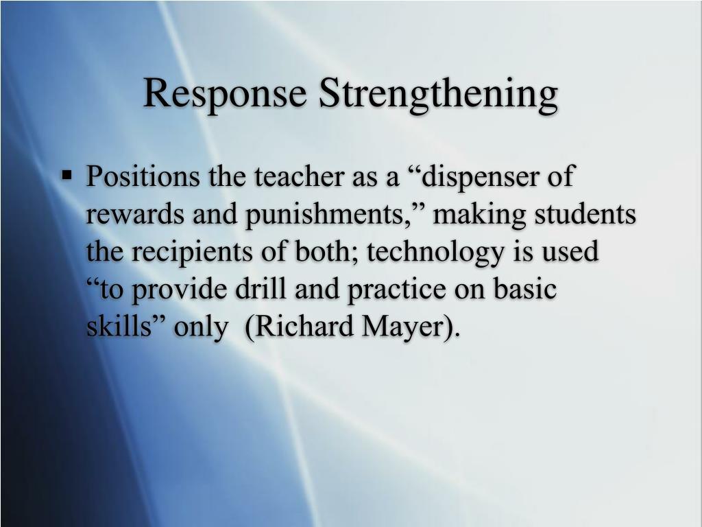 Response Strengthening