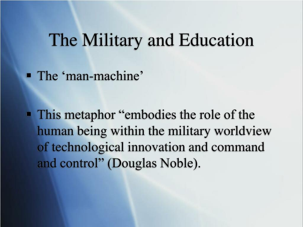The Military and Education