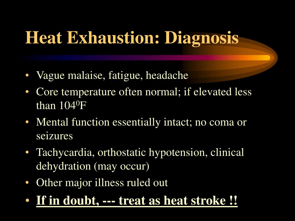Heat Exhaustion: Diagnosis