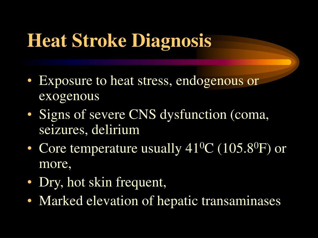 Heat Stroke Diagnosis