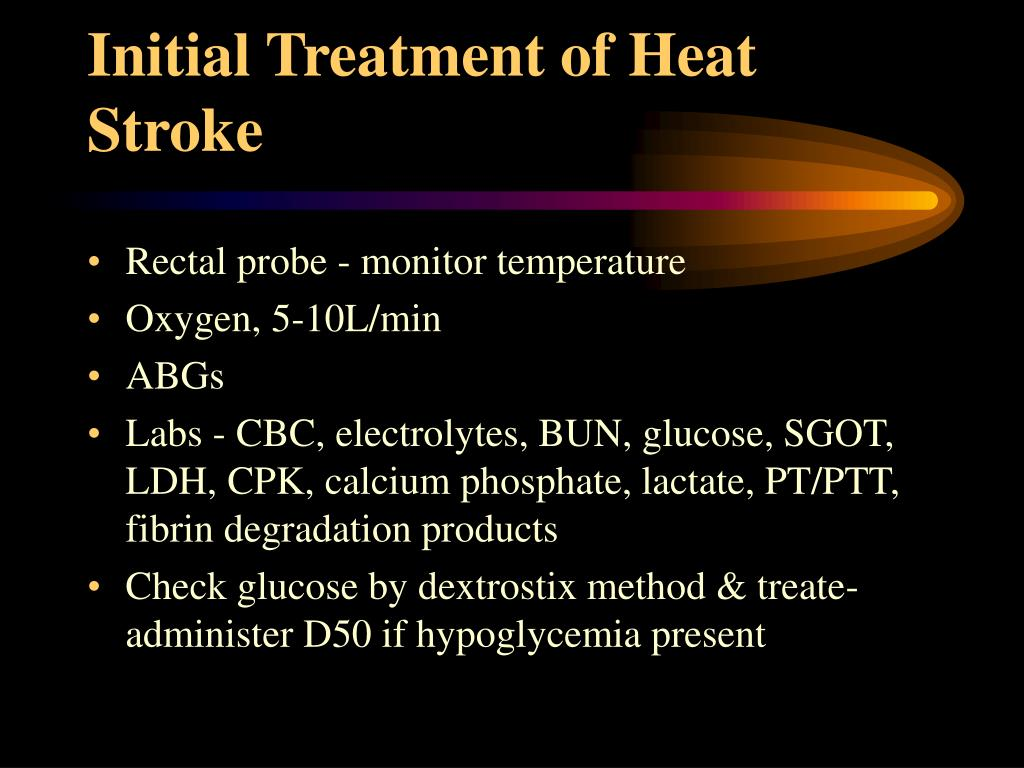 Initial Treatment of Heat Stroke