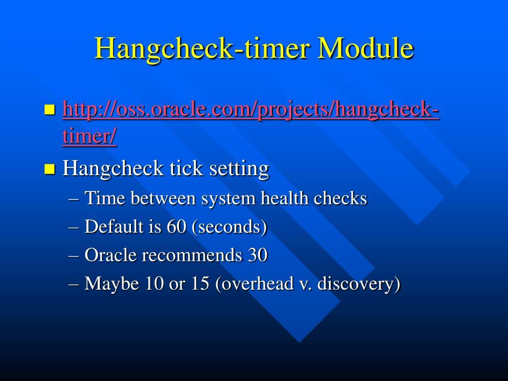 Hangcheck-timer Module