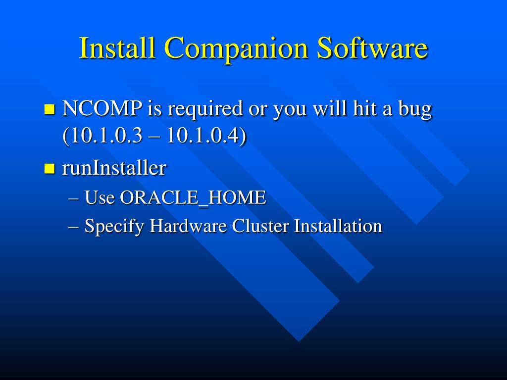 Install Companion Software