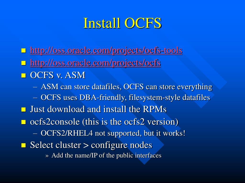 Install OCFS