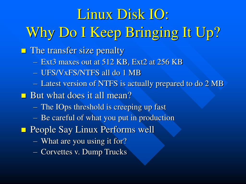Linux Disk IO: