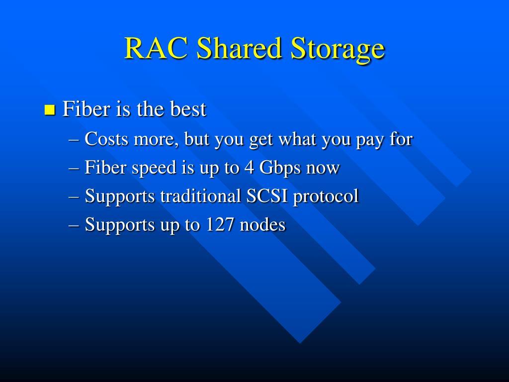 RAC Shared Storage