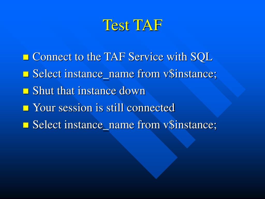 Test TAF