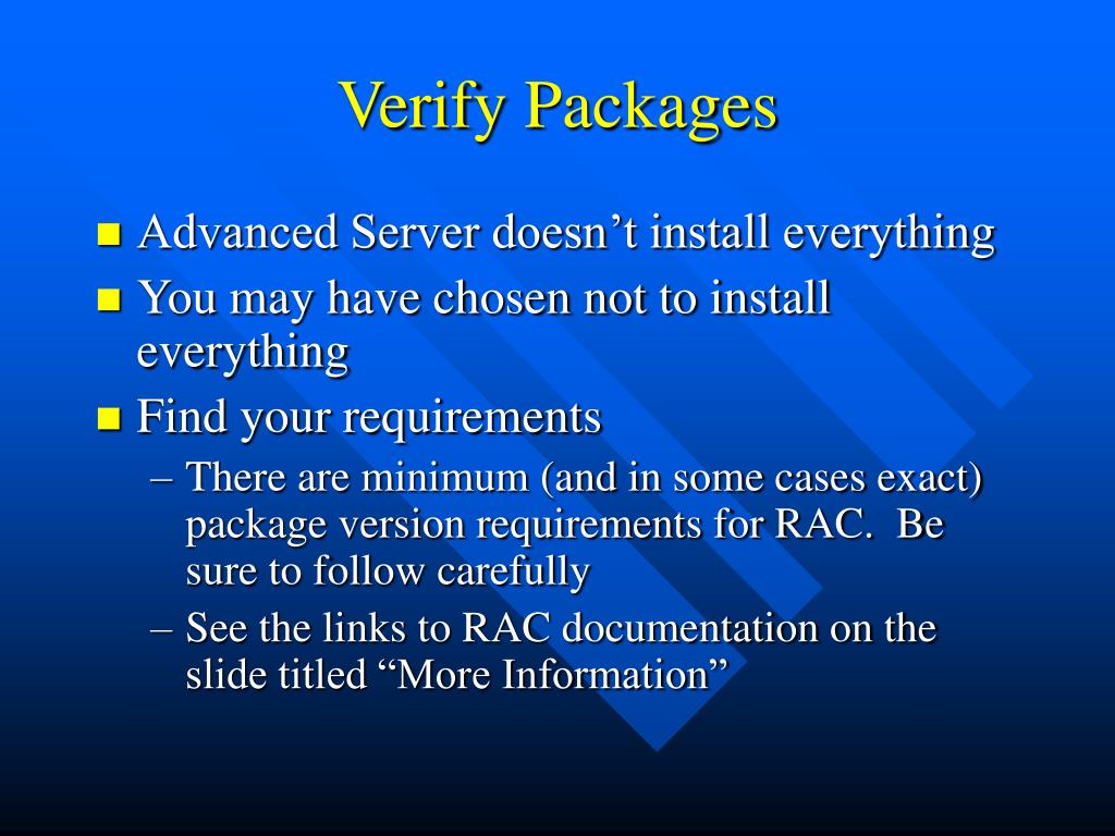 Verify Packages