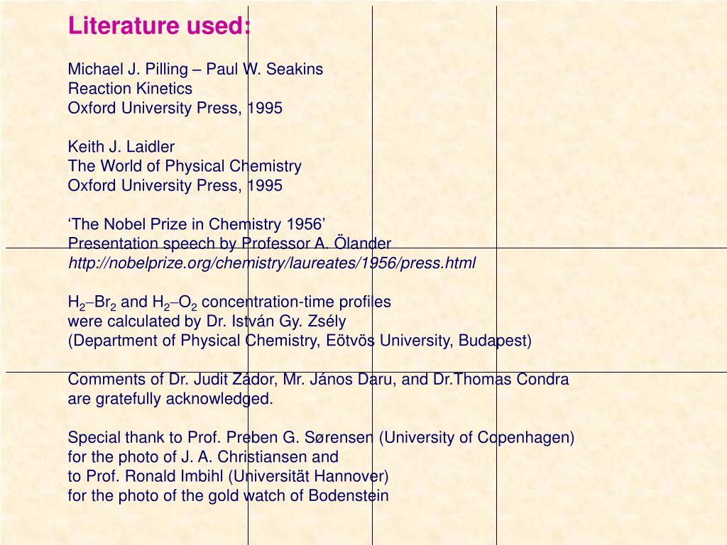 Literature used: