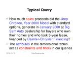 typical query