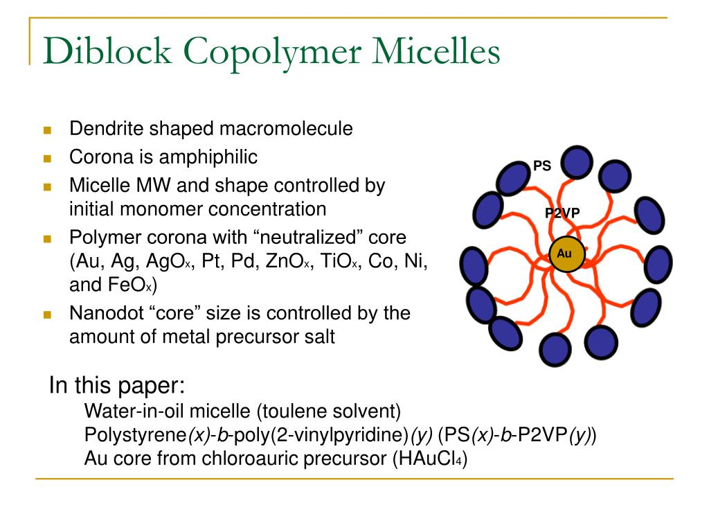 Diblock Copolymer Micelles