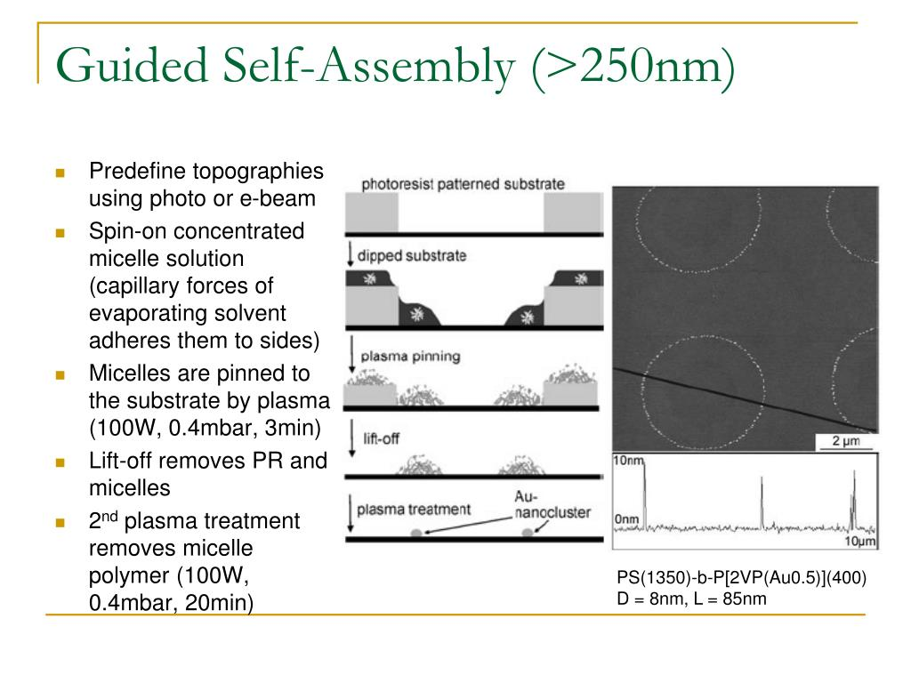 Guided Self-Assembly (>250nm)