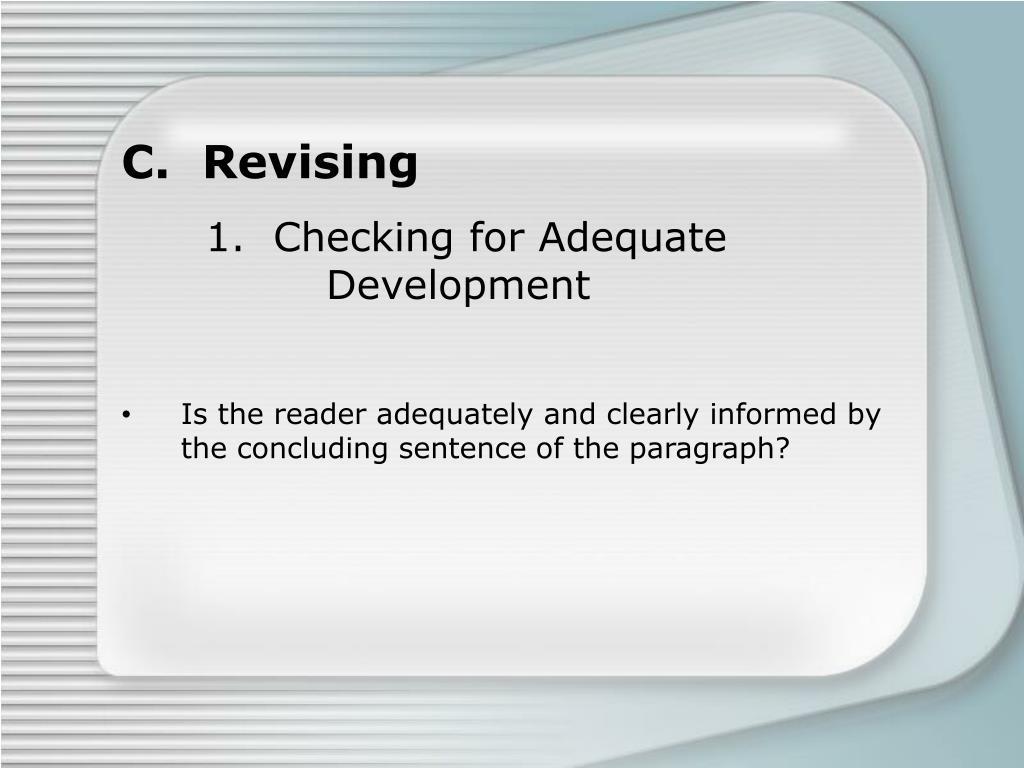 C.  Revising