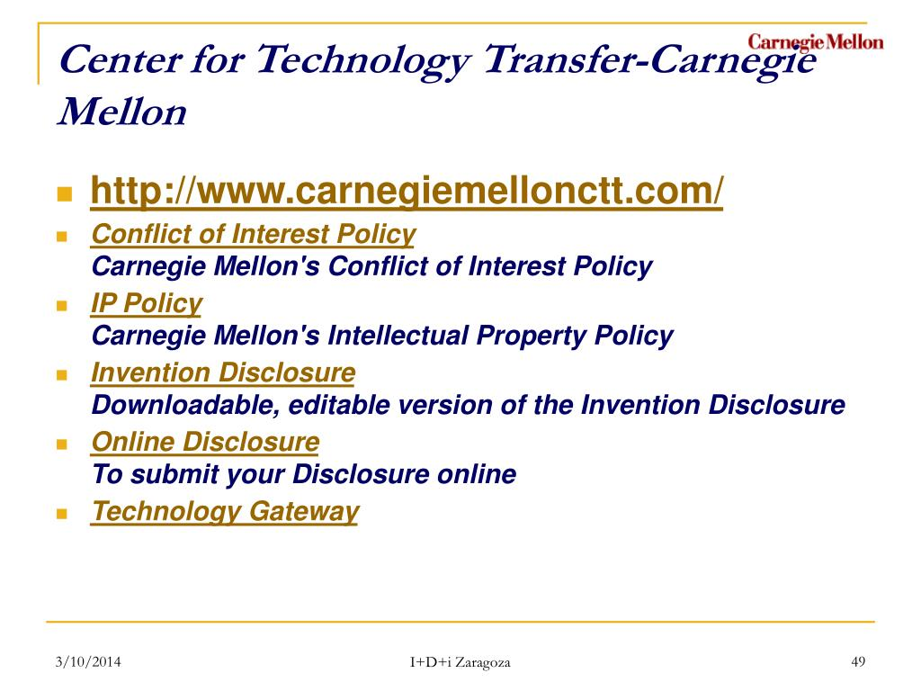 Center for Technology Transfer-Carnegie Mellon