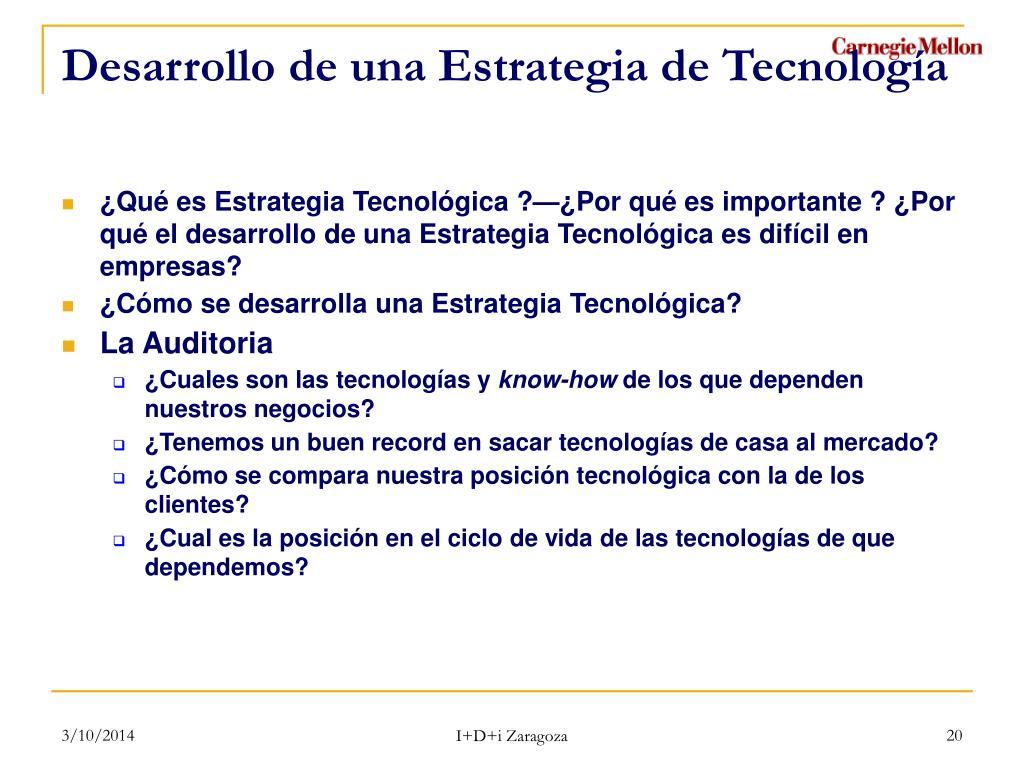 Desarrollo de una Estrategia de Tecnología