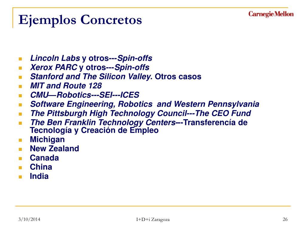 Ejemplos Concretos