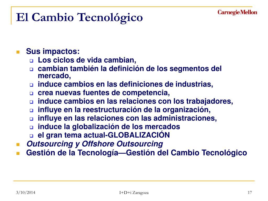 El Cambio Tecnológico