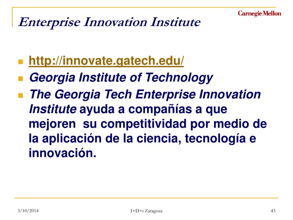 Enterprise Innovation Institute
