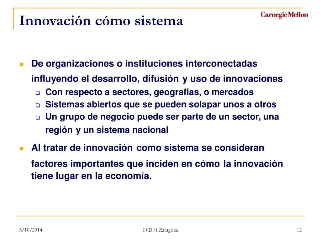 Innovación cómo sistema