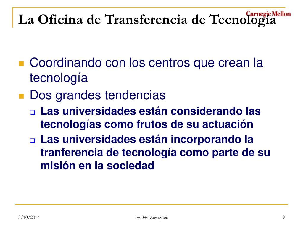 Coordinando con los centros que crean la tecnología