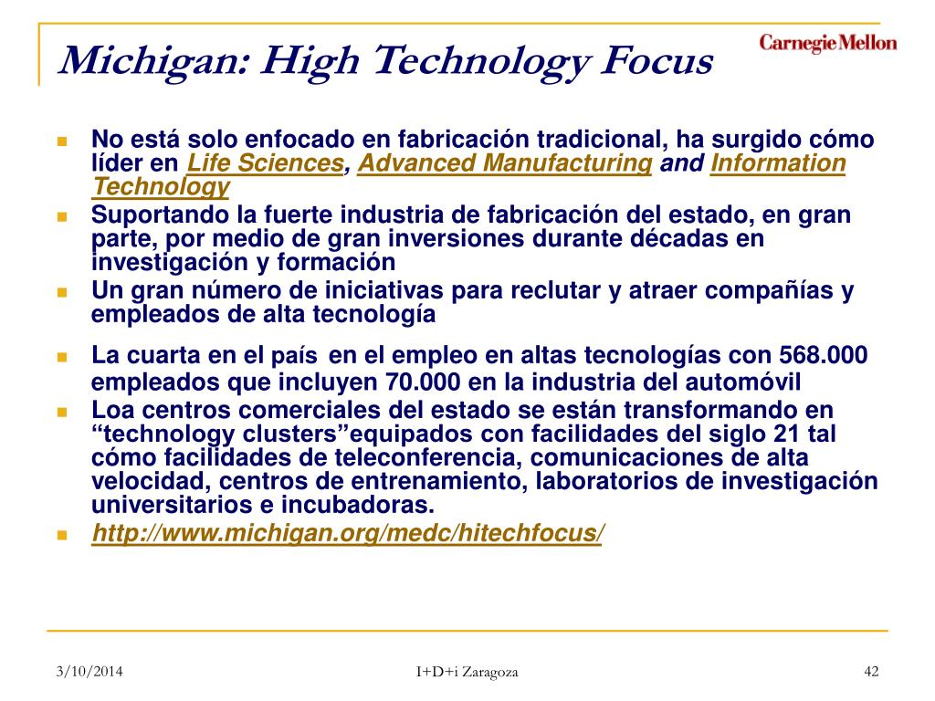 Michigan: High Technology Focus