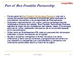part of ben franklin partnership