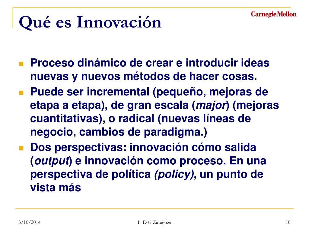Qué es Innovación