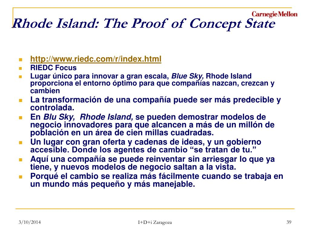 Rhode Island: The Proof of Concept State