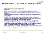 rhode island the proof of concept state