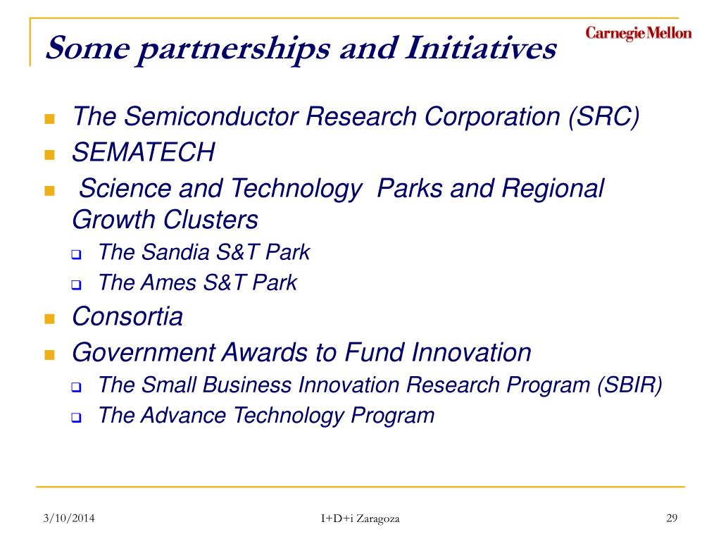 Some partnerships and Initiatives