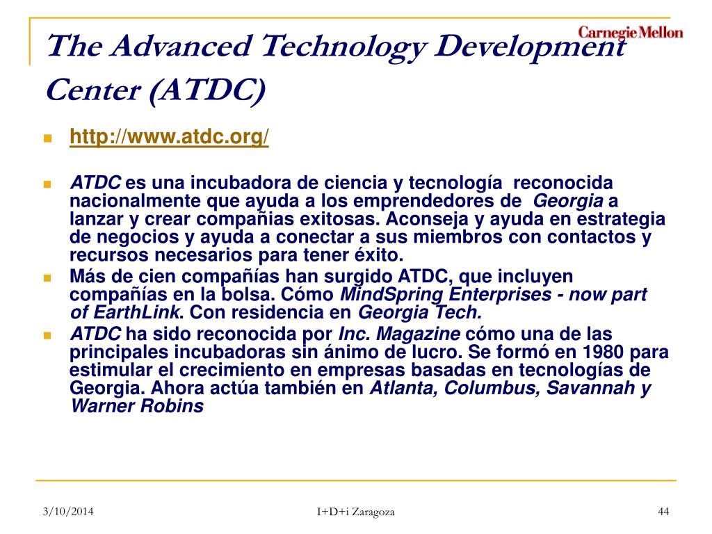 The Advanced Technology Development Center (ATDC)