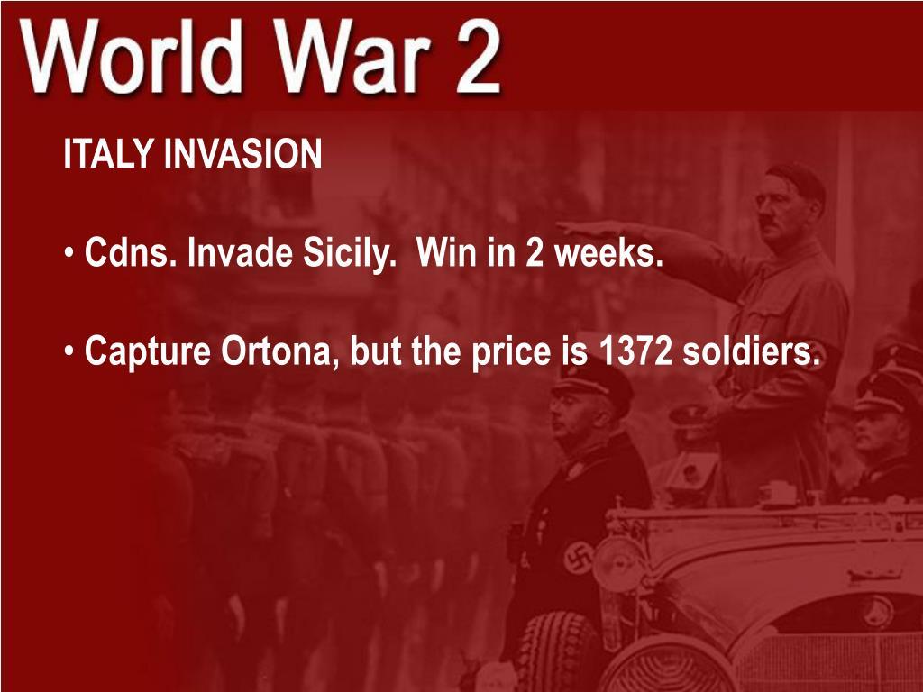 ITALY INVASION