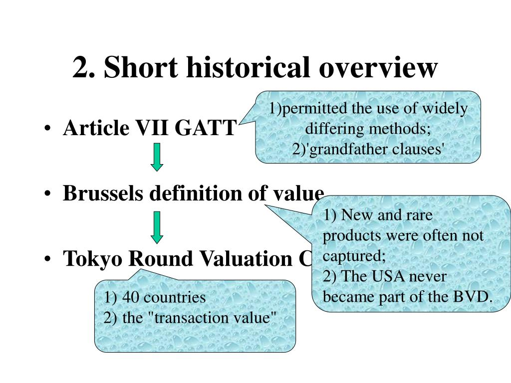 2. Short historical overview