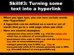 skill 3 turning some text into a hyperlink